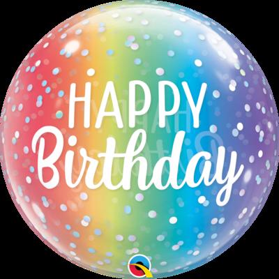 Happy Birthday Colors Bubble Balloon