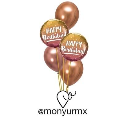 HB Copper & Pink Balloon Bouquet