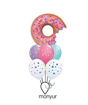 Giant Donut Balloon Bouquet
