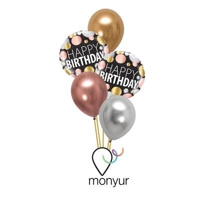 Precious Metals HB Balloon Balloon Bouquet