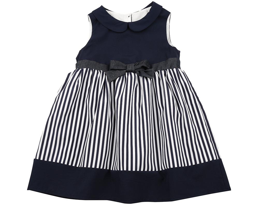 Платье (98-122см) UD 6328(1)син/бел UD 6328(1)син/бел