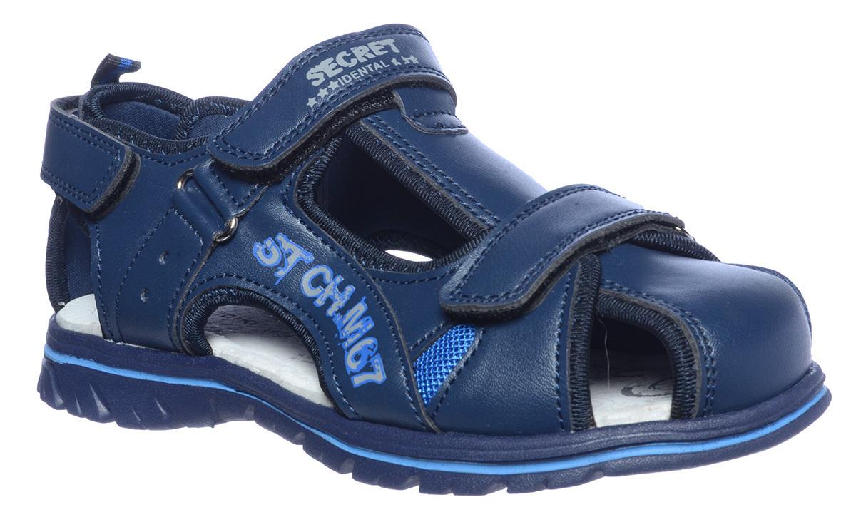 B-5355 Т.Синий  Tom&Miki Сандалии оптом, размеры 32-37 B-5355 Т.Синий