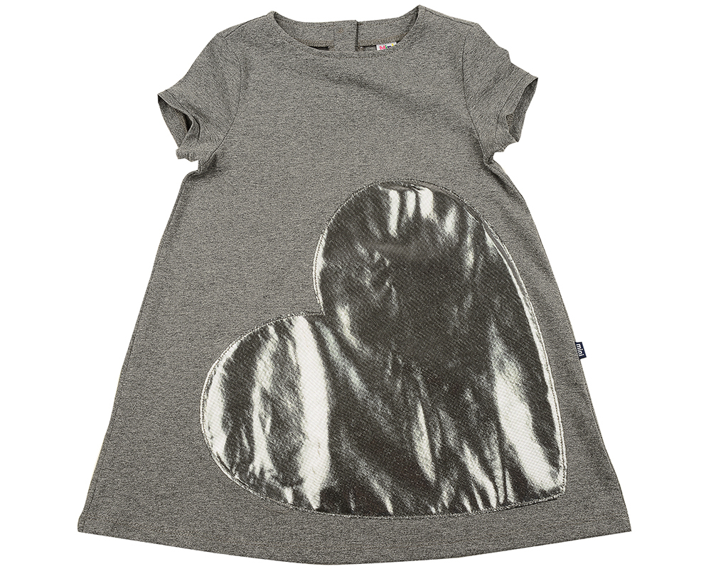 Платье Сердце (92-116см) UD 6330(1)графит