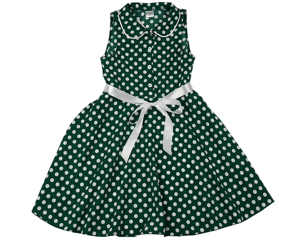 Платье (122-146см) UD 6257(1)зелен