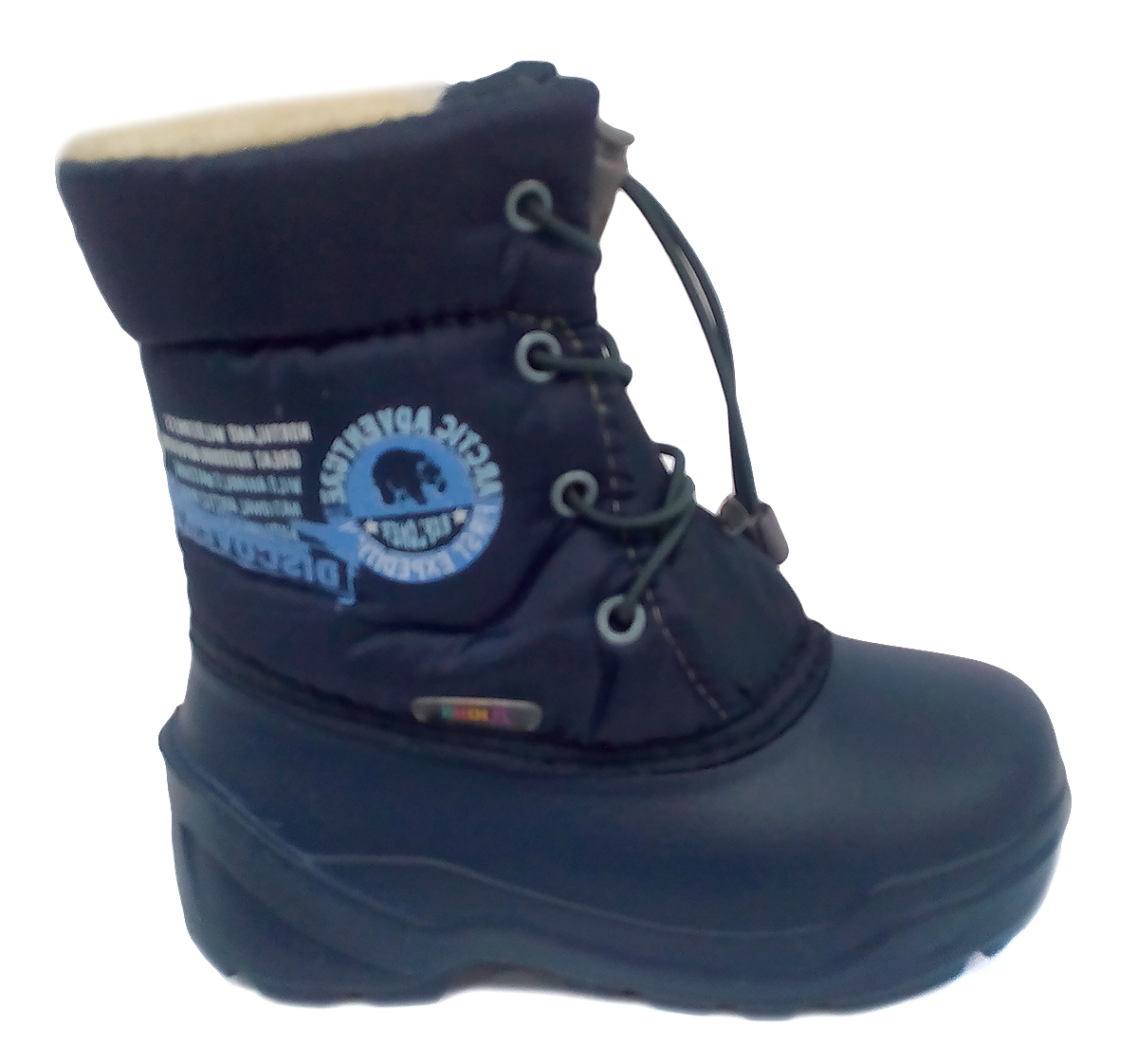 574-08 Дюна Сноубутсы оптом, арктика/т.синий, размеры 27-33 574-08