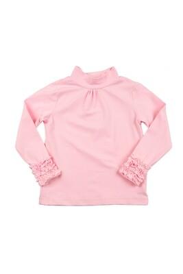 Водолазка с рюшами (92-116см) UD 0393(2)розовый