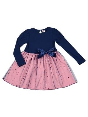 Платье (98-122см) UD 4418(2)сине/роз