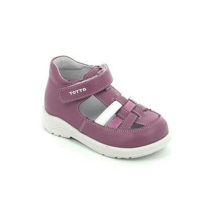 092-03 (сирень/бел) ТОТТА Туфли закрытые оптом, размеры 23-26