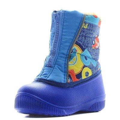 561/01 Сапожки малодетские ЭВА DU-Light, разноцветные машинки/с.синий, размеры 23-26