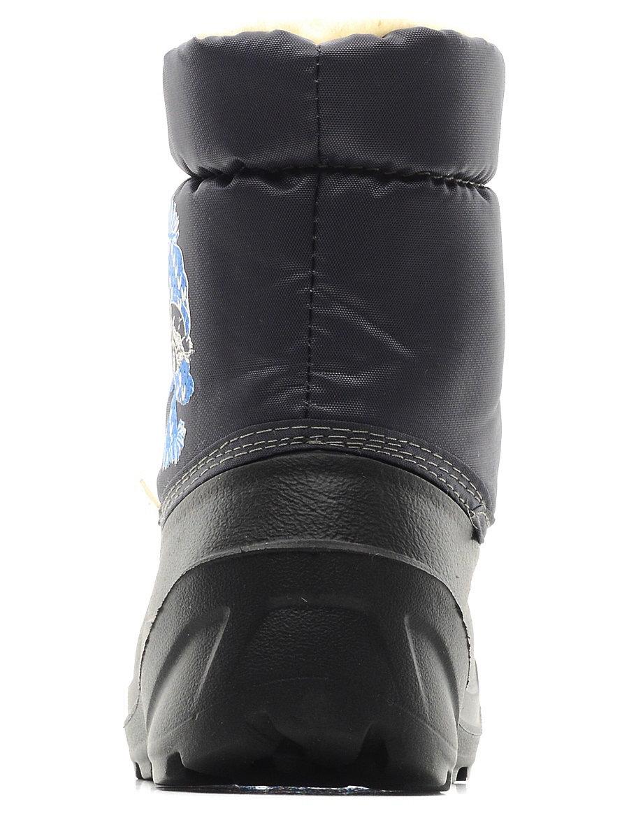574-01 Сапоги Дюна Сноубутсы оптом, енот в шапке/т.серый, размеры 27-33