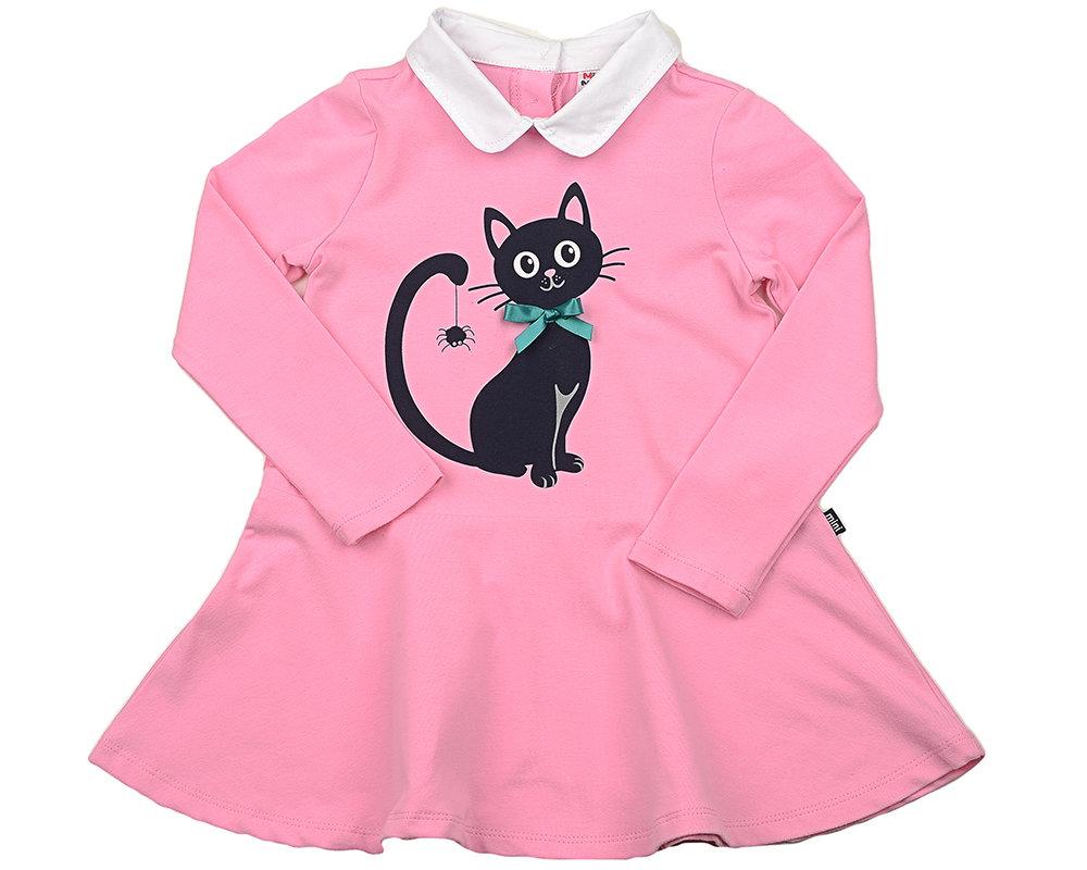 UD 3845(1)розовый  Mini-maxi Платье Кошечка (92-116см) UD 3845(1)розовый
