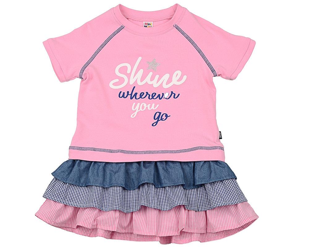 UD 3939(1)розовый Платье Mini-maxi оптом, размеры 98-116 UD 3939(1)розовый