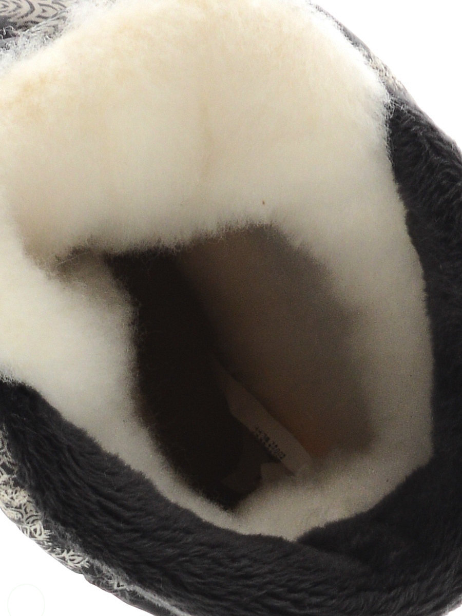 544-10 Сапоги Дюна Сноубутсы оптом пушинки-снежинки/т.серый, размеры 33-40