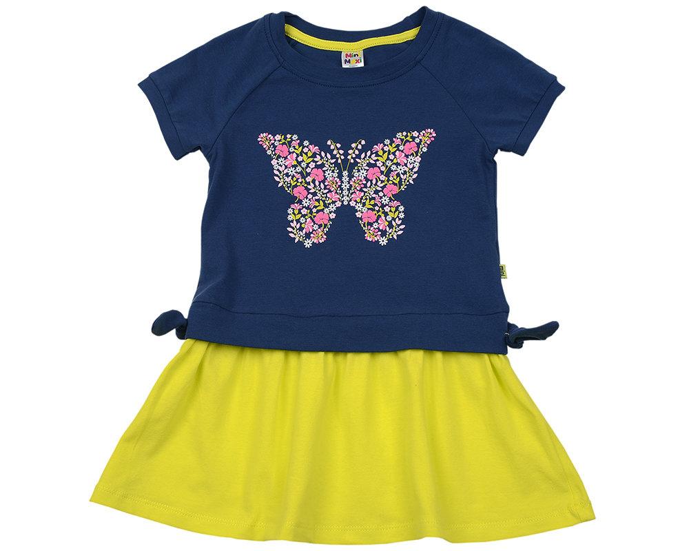UD 2949(2)синий  Mini Maxi Платье с бабочкой (92-116см) UD 2949(2)синий