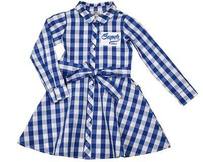UD 3736(12)синий  Mini Maxi Платье в клетку (98-122см)
