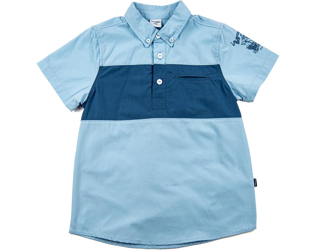 UD 0497(2)голубой  Fifteen Сорочка (рубашка) (122-146см)