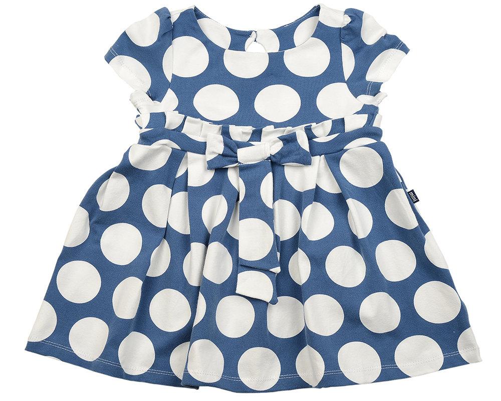 UD 1399(1)св. синий  Mini Maxi Платье в крупн горох (92-116см) UD 1399(1)св. синий