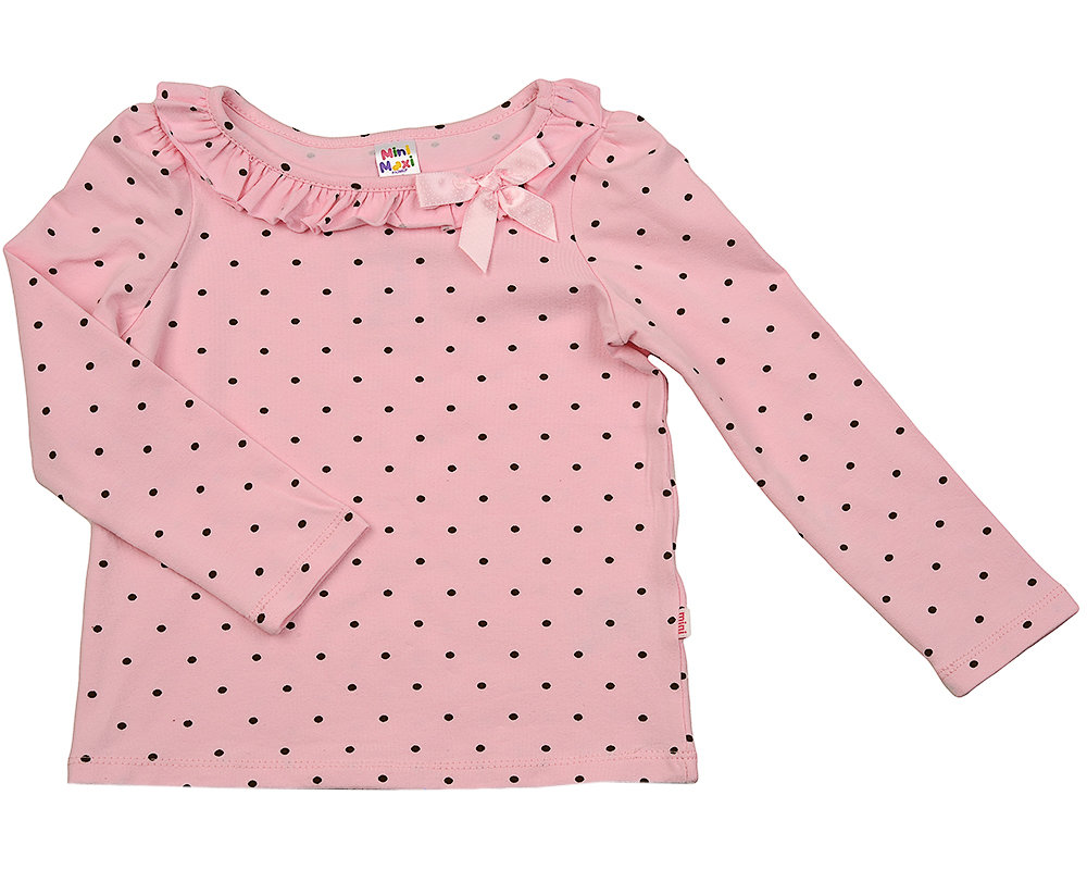 UD 1404(2)розовый  Mini Maxi Блузка в горошек (92-116см) UD 1404(2)розовый