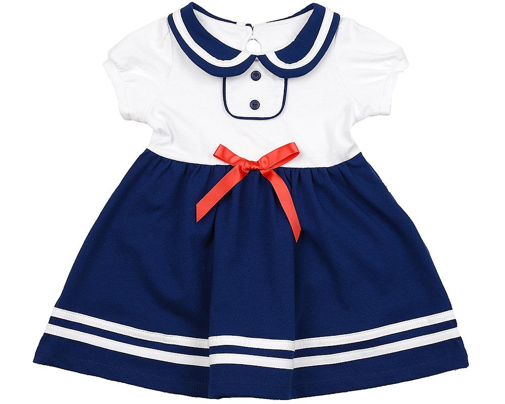 UD 1579(3)бел/син  Mini Maxi Платье (98-116см) UD 1579(3)бел/син