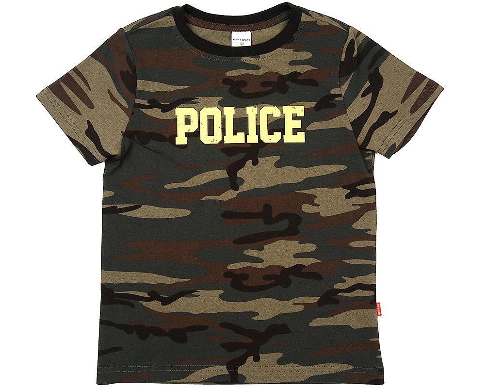 UD 0867(9)камуфл  Fifteen Футболка Police (122-146см) UD 0867(9)камуфл