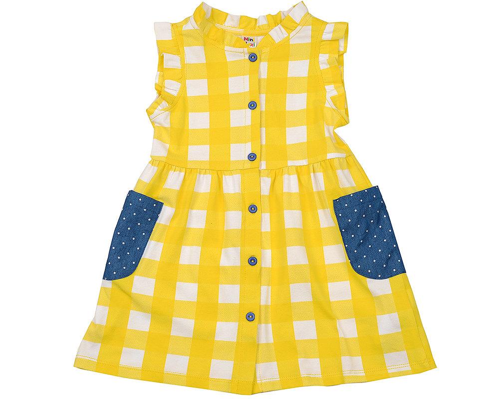 UD 2956 желтый  Mini Maxi Платье с дж.карманами (92-116см) UD 2956 желтый