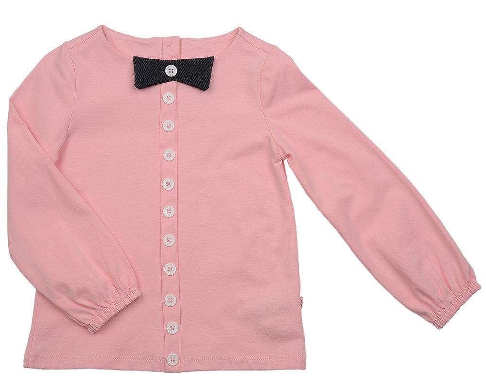 UD 1288 розовый  Mini Maxi Блузка с пуговками (92-116см) UD 1288 розовый