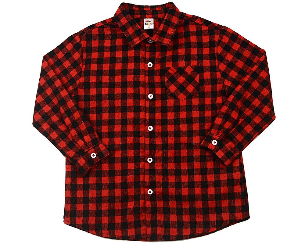 UD 4083(1)красный  Mini Maxi Сорочка (рубашка) (98-122см) UD 4083(1)красный