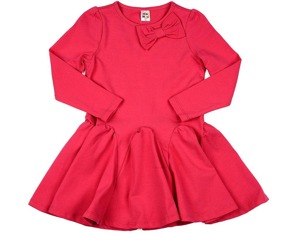 UD 0420(1)малина  Mini Maxi Платье с дл.рукавом (98-122см) UD 0420(1)малина