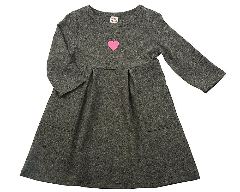 UD 3738(1)графит  Mini Maxi Платье с сердечком (98-122см) UD 3738(1)графит