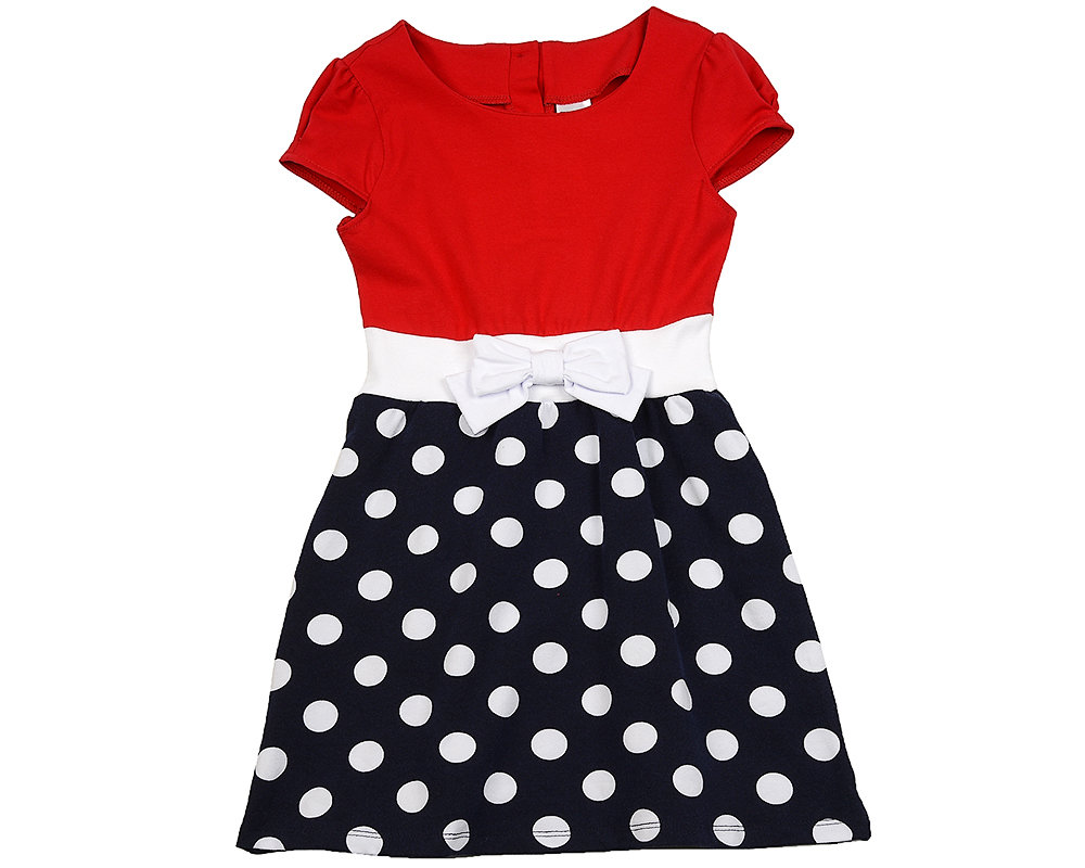 UD 1366(2)красный  Fifteen Платье на резинке (122-146см) UD 1366(2)красный