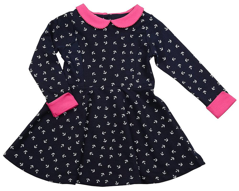 UD 1320(3)малина  Mini Maxi Платье Якоря (98-116см)