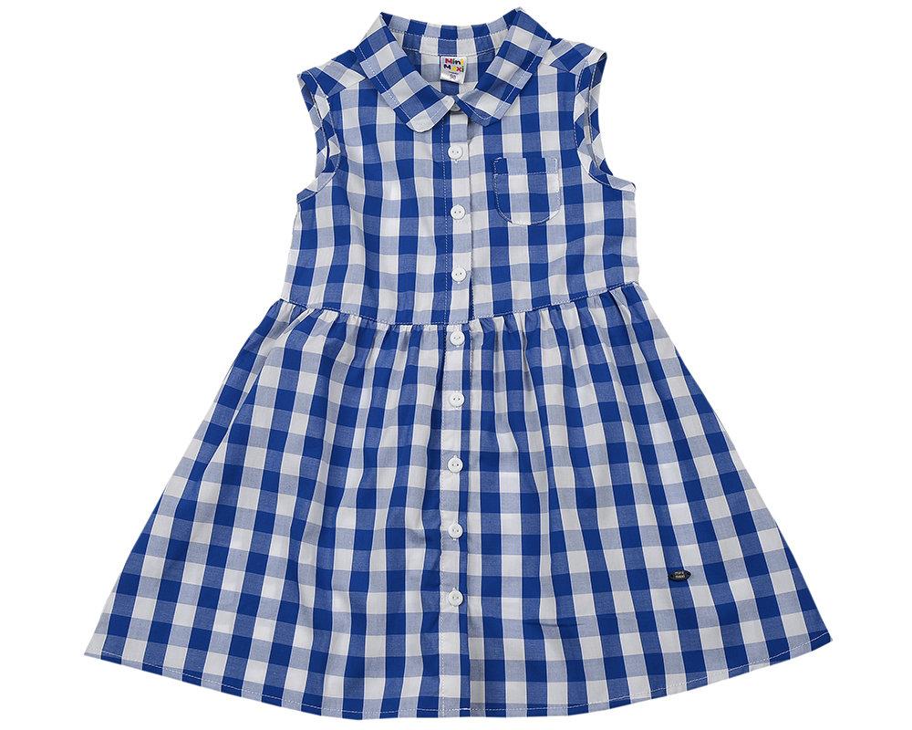 UD 3305(1)синий  Mini Maxi Платье в клетку (98-122см)