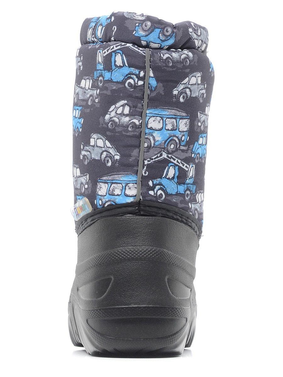 581/01-06 Дюна Сноубутсы оптом, машинки серо-голубые/т.серый, размеры 27-33
