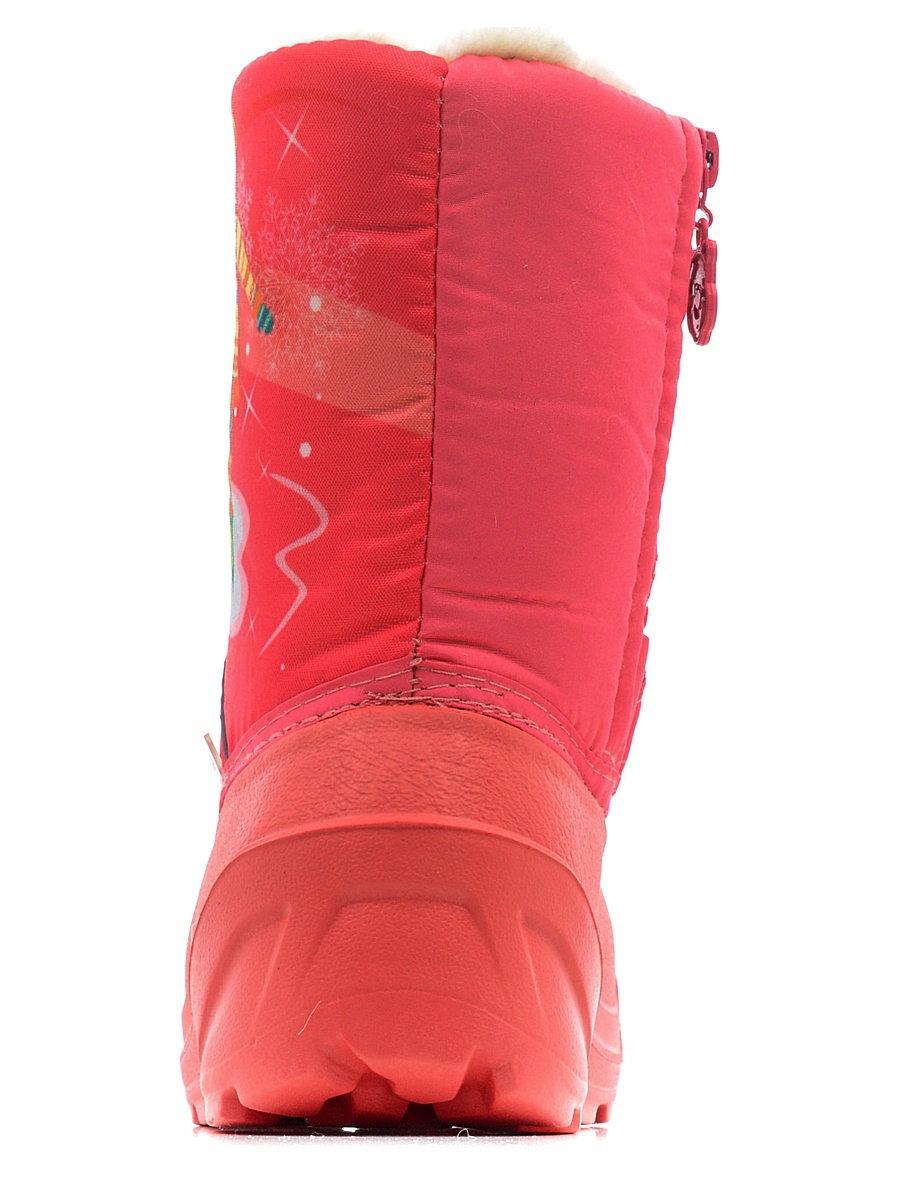 576-07 Сапоги Дюна Сноубутсы оптом, девочка на коньках/коралловый, размеры 27-33