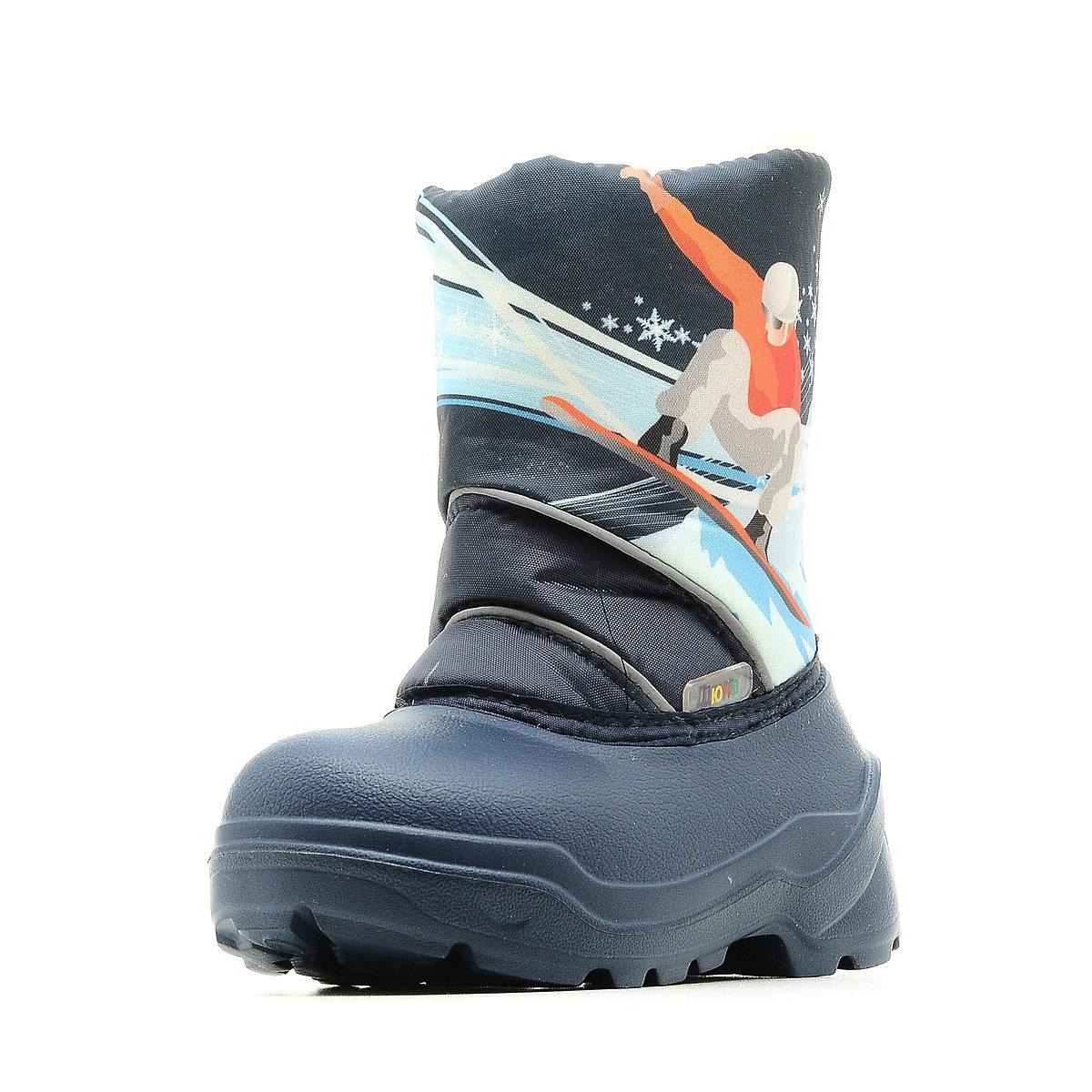 576-08 Сапоги Дюна Сноубутсы оптом, сноубордист/т.синий, размеры 27-33