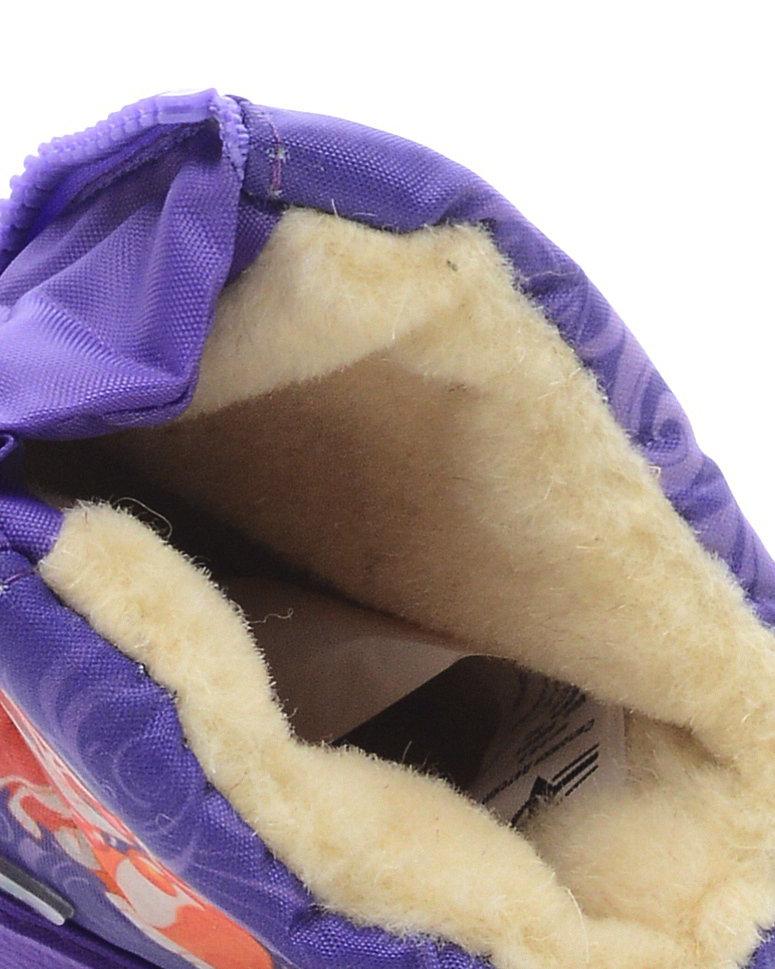 566-09 Сапоги Дюна Сноубутсы оптом, кошечка с собачкой/сиреневый, размеры 21-26