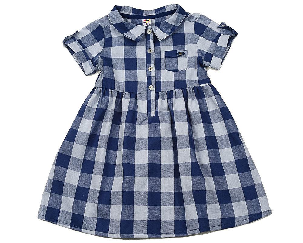 UD 2684(3)синий  Mini Maxi Платье в клетку (98-122см) UD 2684(3)синий