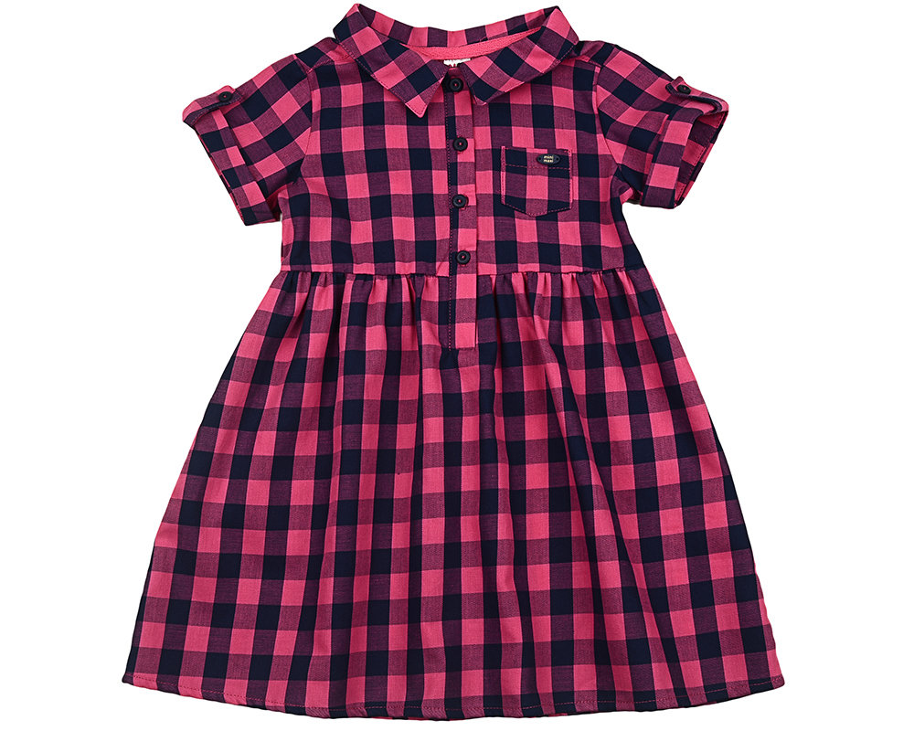 UD 2684(1)малина  Mini Maxi Платье в клетку (98-122см) UD 2684(1)малина