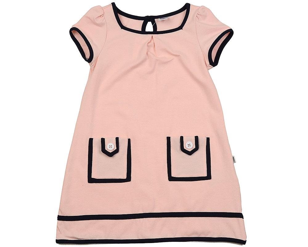 UD 1533 розов  Mini Maxi Платье с карманами (98-122см) UD 1533 розов