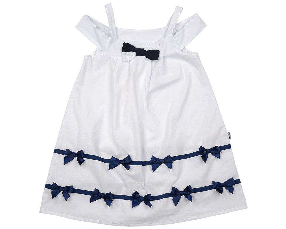 UD 2920 белый  Mini Maxi Платье с бантиками (98-122см) UD 2920 белый