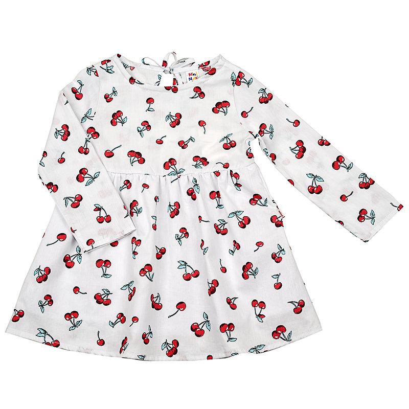 UD 4517(1)белый  Mini Maxi Платье Вишня (92-116см) UD 4517(1)белый