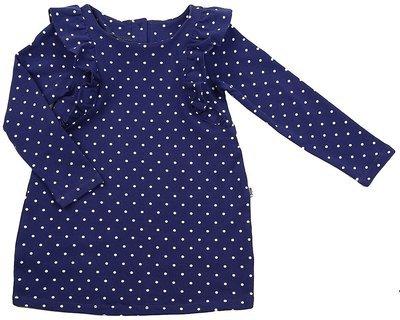 UD 1421(1)св.синий  Mini Maxi Платье в горошек (92-116см)