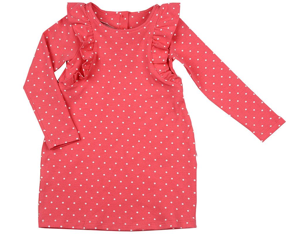 UD 1421(5)малина  Mini Maxi Платье в горошек (92-116см) UD 1421(5)малина
