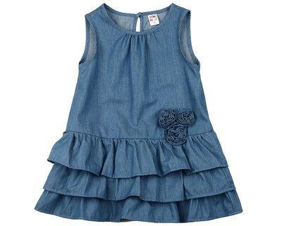UD 1843(1)джинс  Mini Maxi Платье однотонное (98-116см)