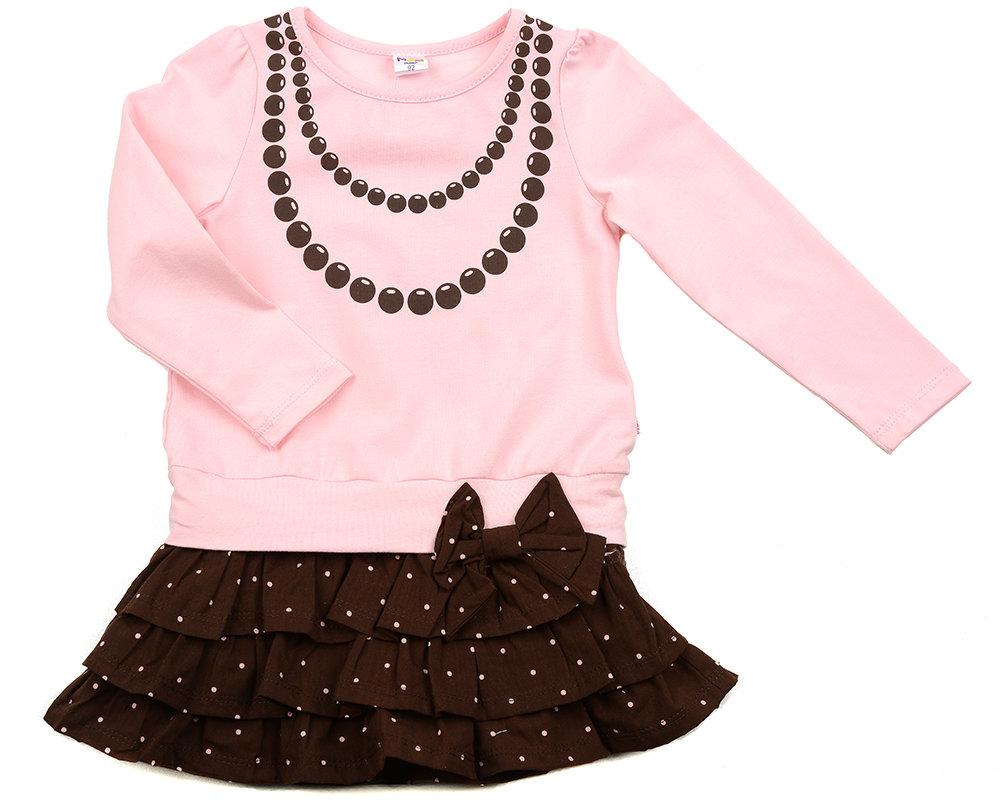 UD 0417(2)розов  Mini Maxi Платье с принтом Бусы (98-116см) UD 0417(2)розов