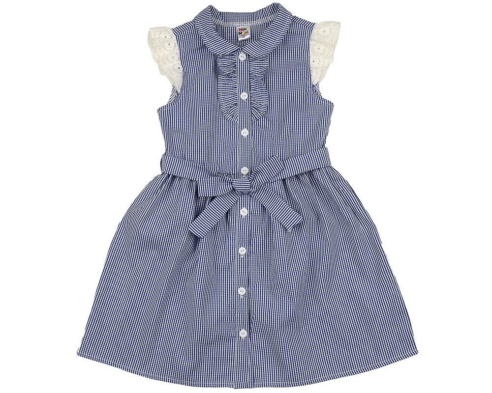 UD 4563(2)синий  Mini Maxi Платье в клетку (98-122см) UD 4563(2)синий