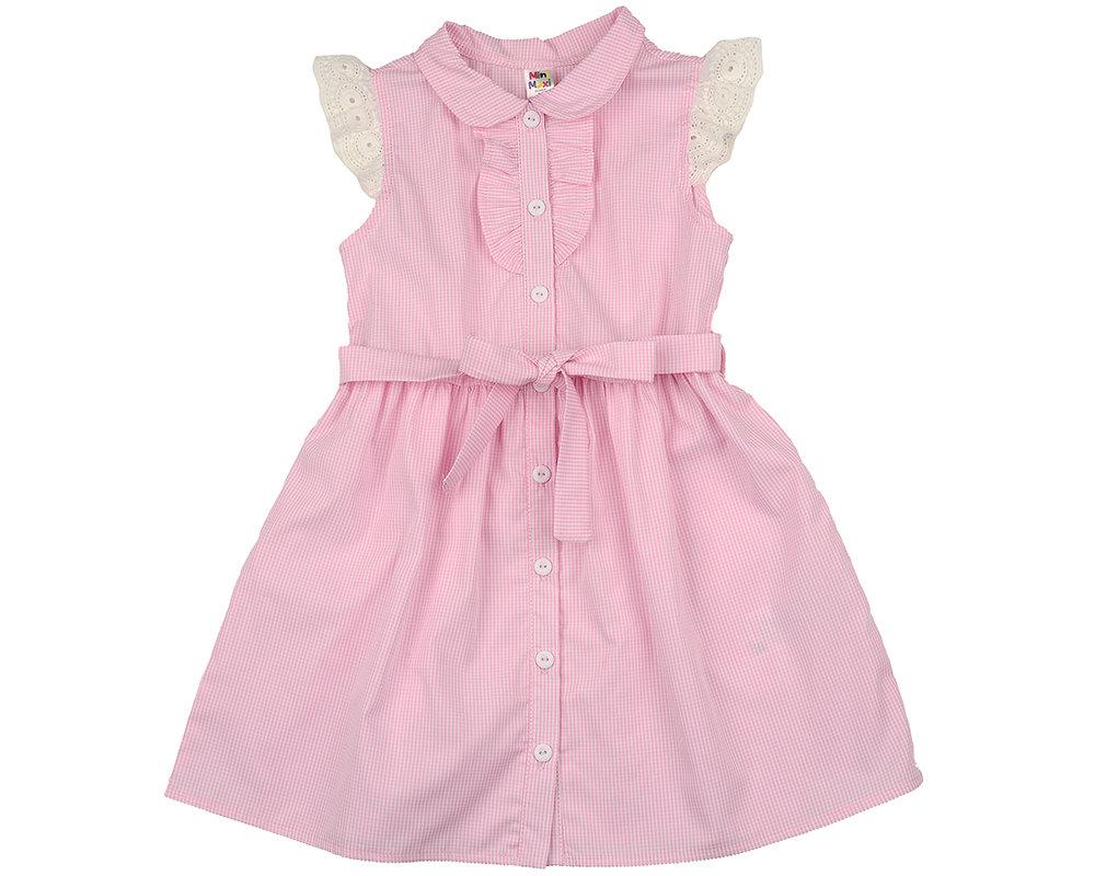 UD 4563(1)розов  Mini Maxi Платье в клетку (98-122см) UD 4563(1)розов