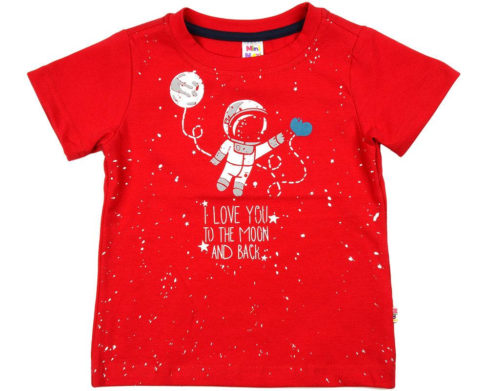 UD 0787(6)красный  Mini Maxi Футболка с космонавтом (98-116см) UD 0787(6)красный