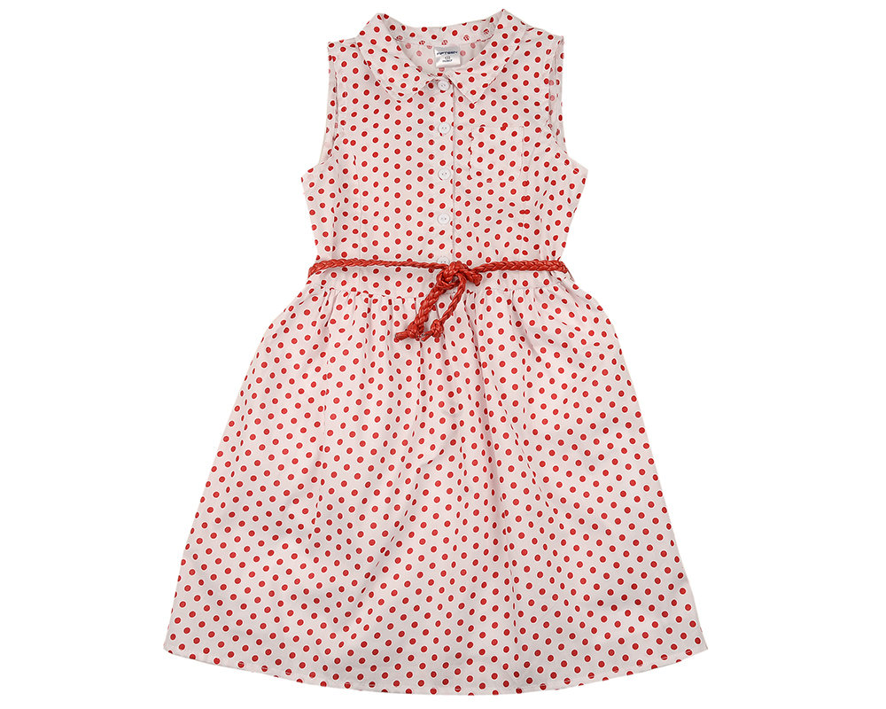UD 4562(4)бел/красный  Fifteen Платье (122-146см) UD 4562(4)бел/красный