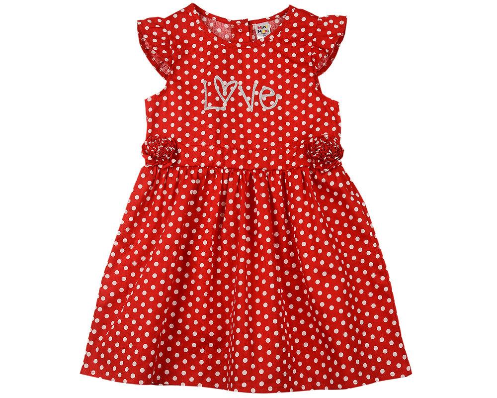 UD 4592(1)красный  Mini Maxi Платье (98-122см) UD 4592(1)красный